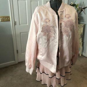 Pink Jacket and Skirt Set